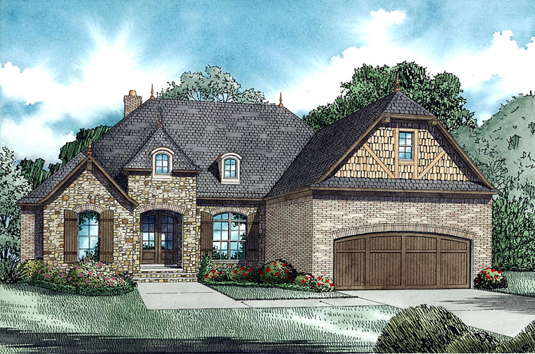 New 4 Bedroom European House Plans