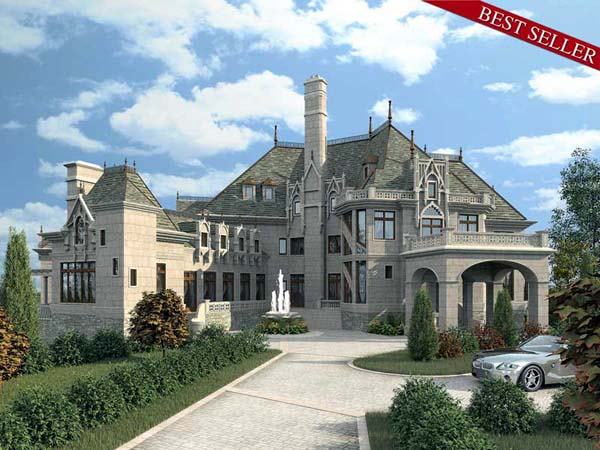 Build a castle with luxury home plan 72130 family home for Build a castle home