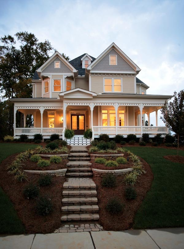 Victorian farmhouse plan family home plans blog for Nice home plans