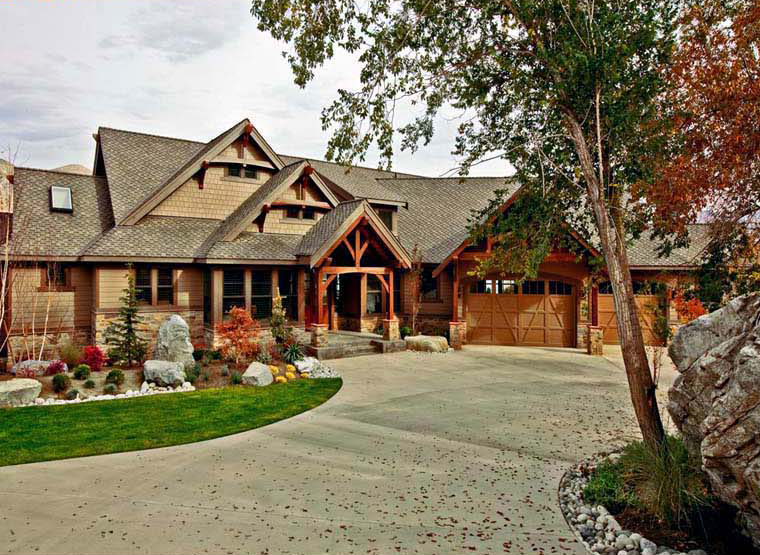 Timber Framed Craftsman House Plan - Family Home Plans Blog on timber cottage homes, timber lodge style homes, timber cabin homes, timber chalet homes, timber modular homes, timber king homes, timber tuscan homes, timber rustic homes, timber country homes,