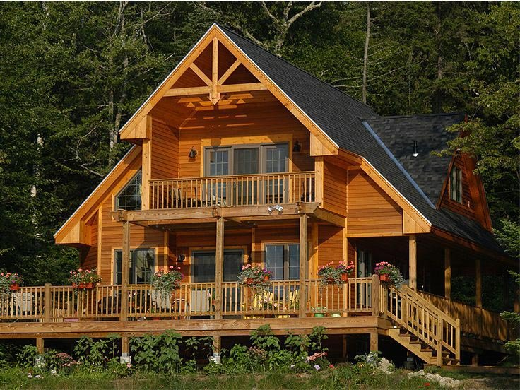House plans for your summer vacation family home plans blog for Vacation cabin floor plans