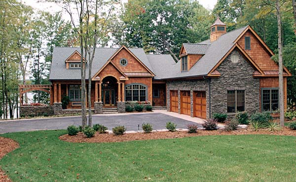 House Plan Small Home Design: Craftsman Style Hillside House Plan