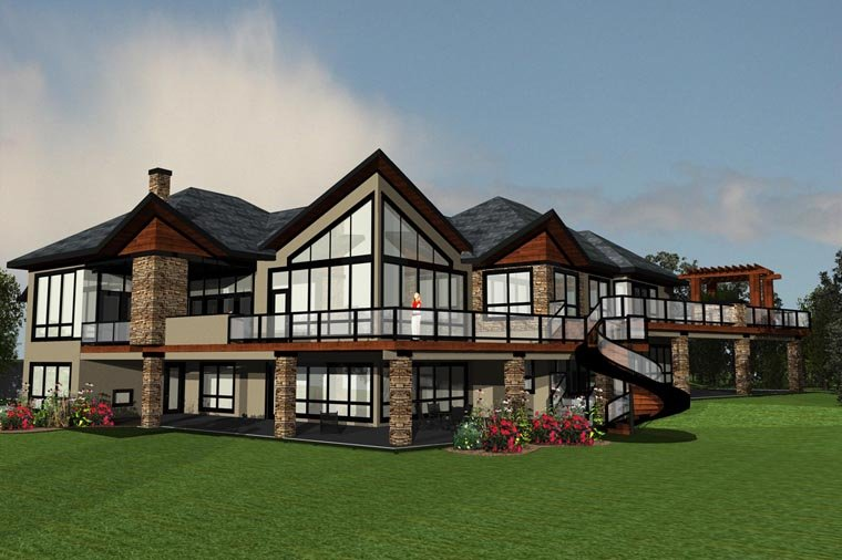 Modern House Plan Offers a Great View