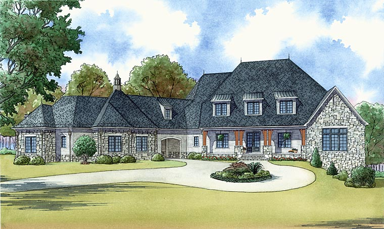 Elegant southern style country house plan family home for Luxury craftsman style house plans