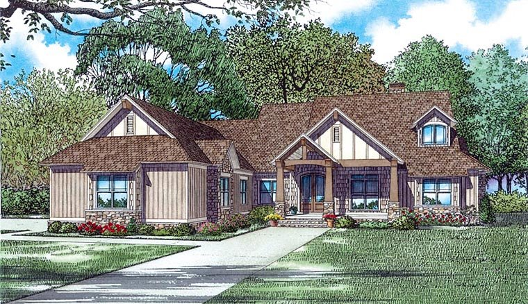 House Plans with a 3 Car Garage