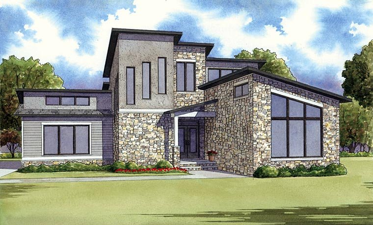 Modern House Plans with 2 Bedrooms
