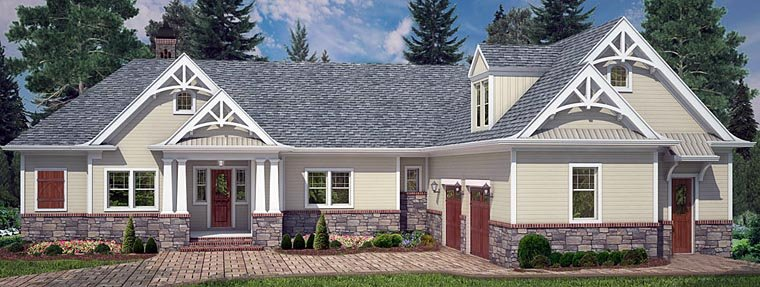 4 bedroom, 3.5 bath Craftsman House Plan