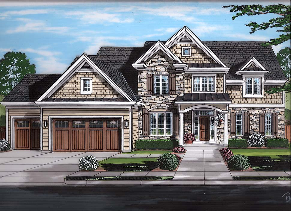 New Traditional Home Plan With 3455 Square Feet