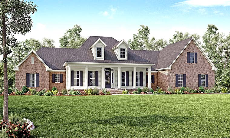 4 Bedroom Colonial Style House Plan