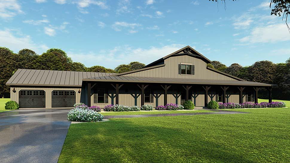 5 Bedroom Barn Style House Plan