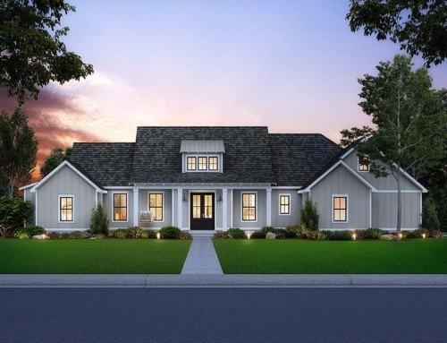 Southern Style House Plan With Side-Load Garage